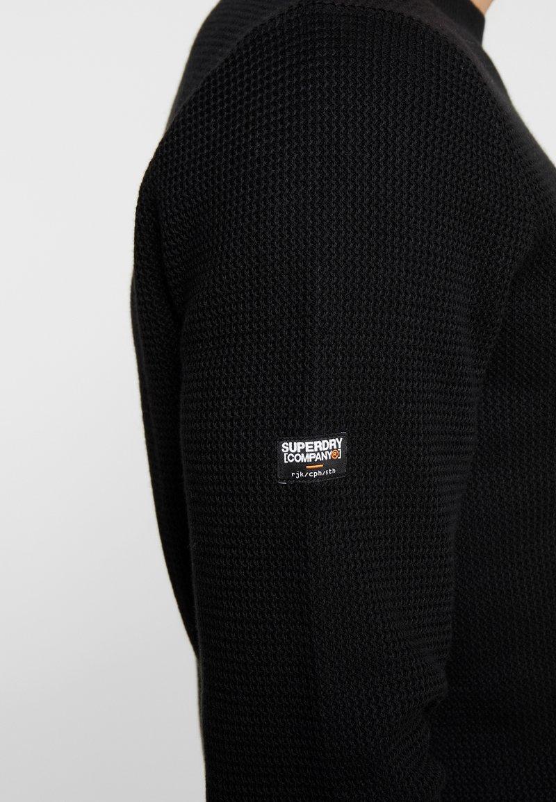 Superdry ACADEMY CREW - Strickpullover - black/schwarz BKoawq