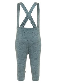 Müsli by GREEN COTTON - WOLF SUSPENDERS PANTS - Kangashousut - lagoon green - 1
