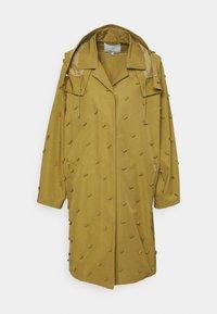 FAILLE BALMAN COAT WITH EMBELLISHMENT - Classic coat - bronze