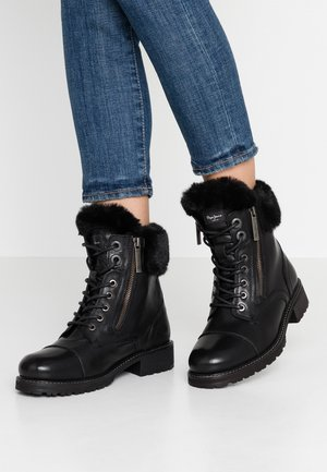 MELTING RUSS - Lace-up ankle boots - black
