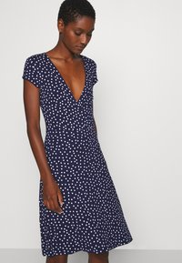 Anna Field - Jersey dress - maritime blue/white - 4