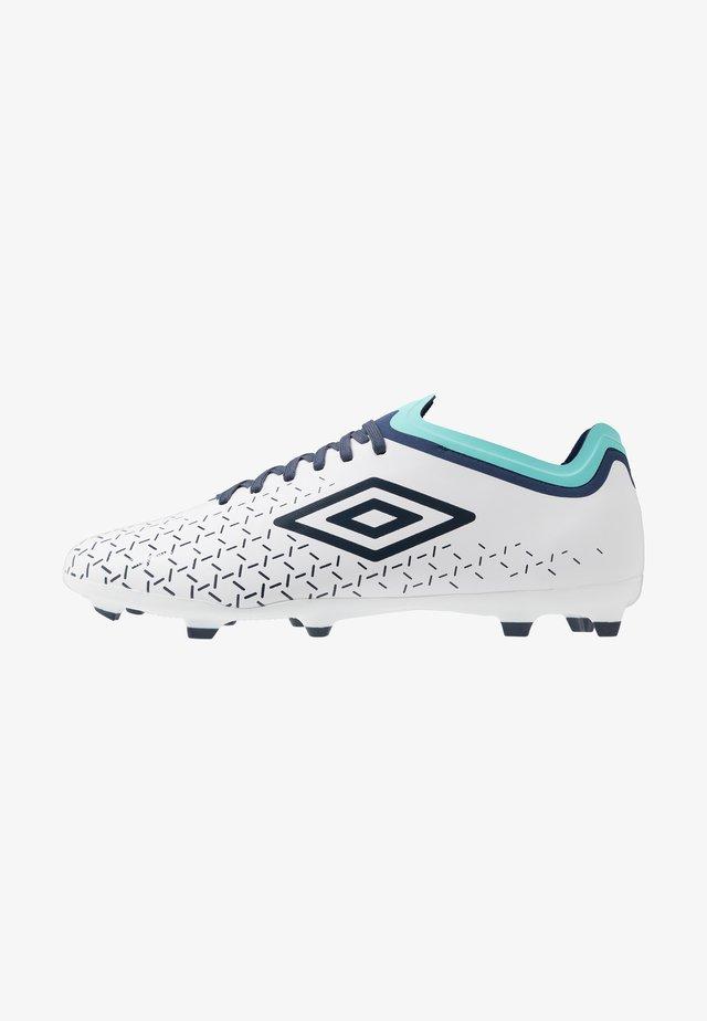 VELOCITA V PREMIER FG - Moulded stud football boots - white/medieval blue/blue radiance