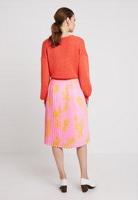 Marc O'Polo DENIM - SKIRT - A-line skirt - pink/orange - 2