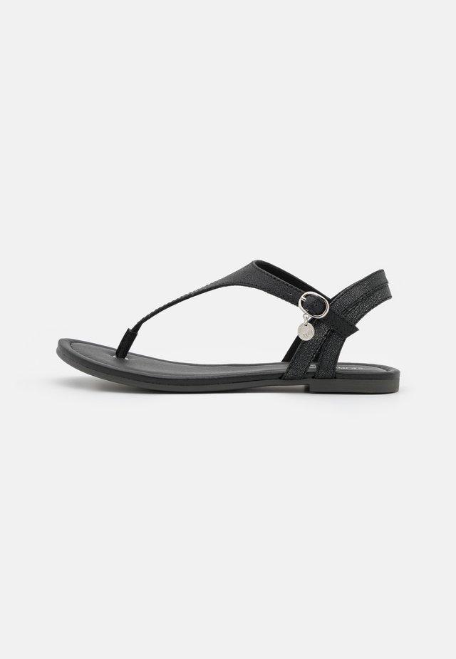 Teensandalen - black metallic