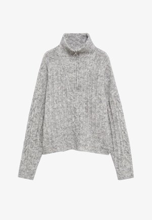 TRENZA-I - Jumper - gris chiné clair