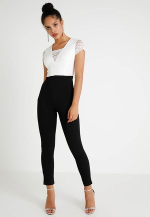 TWO TONE SLEEVE  - Jumpsuit - black/white