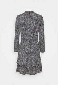 Dorothy Perkins Tall - TALL DITSY SHEERED NECK MINI DRESS - Day dress - multi - 7