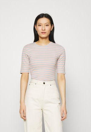 ITTAKA  - Print T-shirt - peach stripe