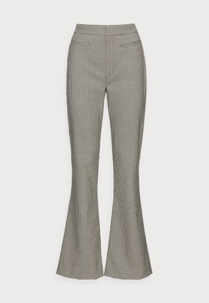 MARISOL FLARED PANTS - Trousers - black/white