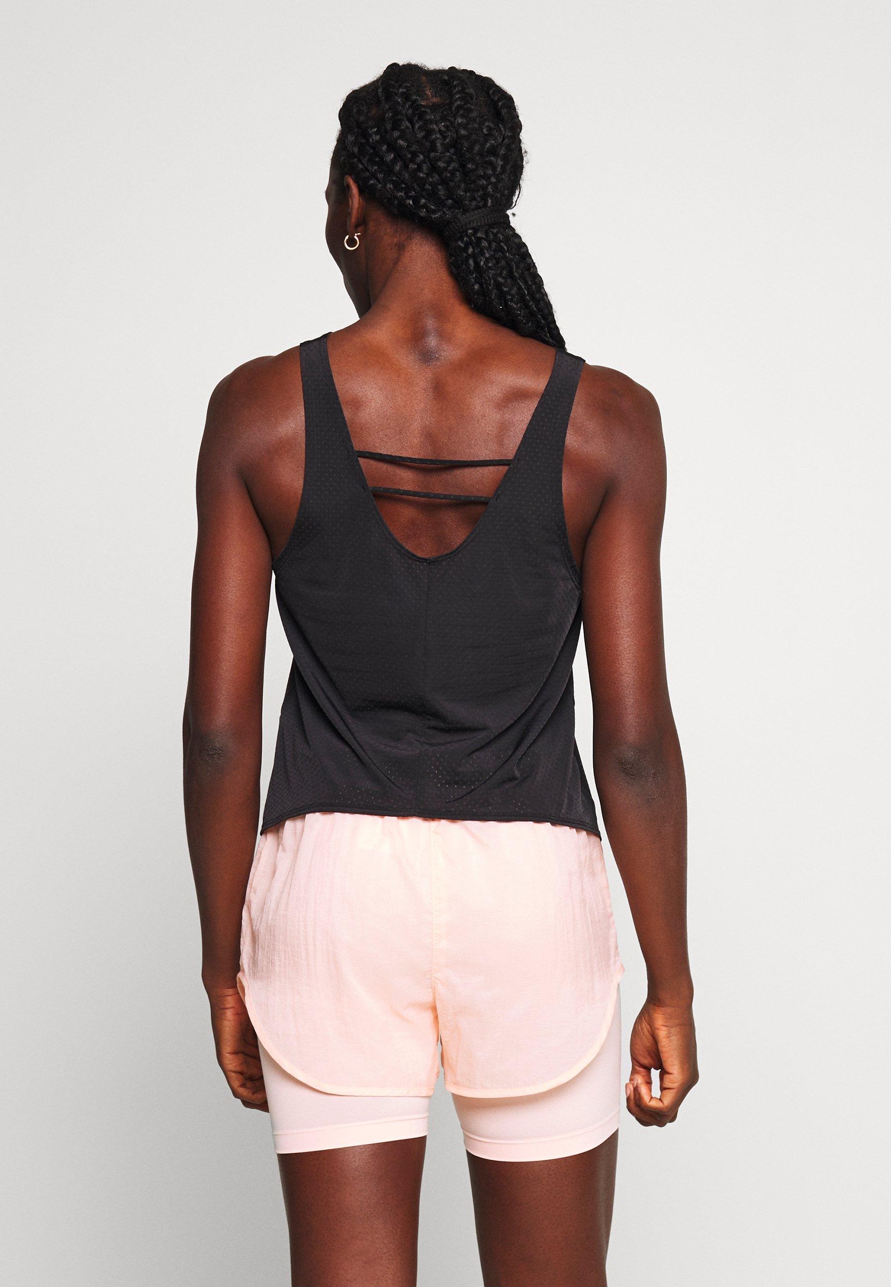 Nike Performance TANK BREATHE - Sports shirt - black/reflective silver RW2PW