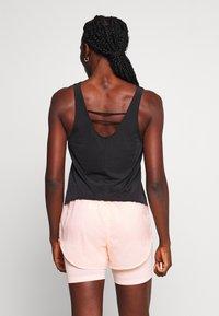 Nike Performance - TANK BREATHE - Sports shirt - black/reflective silver - 2