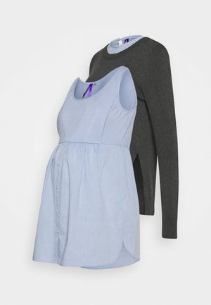 FELISA - Jumper - grey/light-blue denim