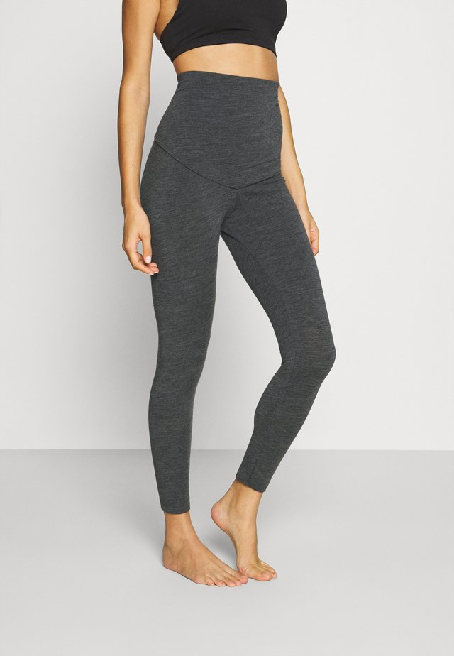 LEGGINGS - Pyjamahousut/-shortsit - dark grey melange