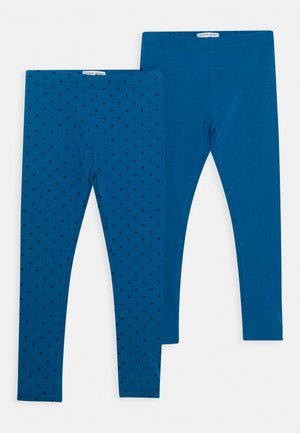 SMALL GIRLS 2 PACK - Legíny - blue saphire