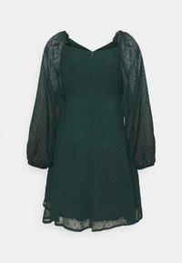 Missguided Tall - MILKMAID SKATER DRESS DOBBY - Day dress - dark green - 6