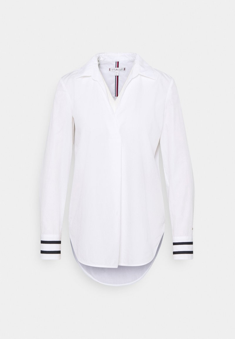 Tommy Hilfiger - CRISP POP RELAXED BLOUSE - Blouse - optic white