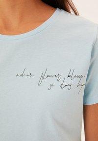 Trendyol - Print T-shirt - blue - 3