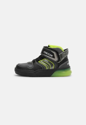 GRAYJAY BOY - High-top trainers - black/lime