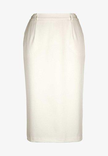 Pencil skirt - creme weiß