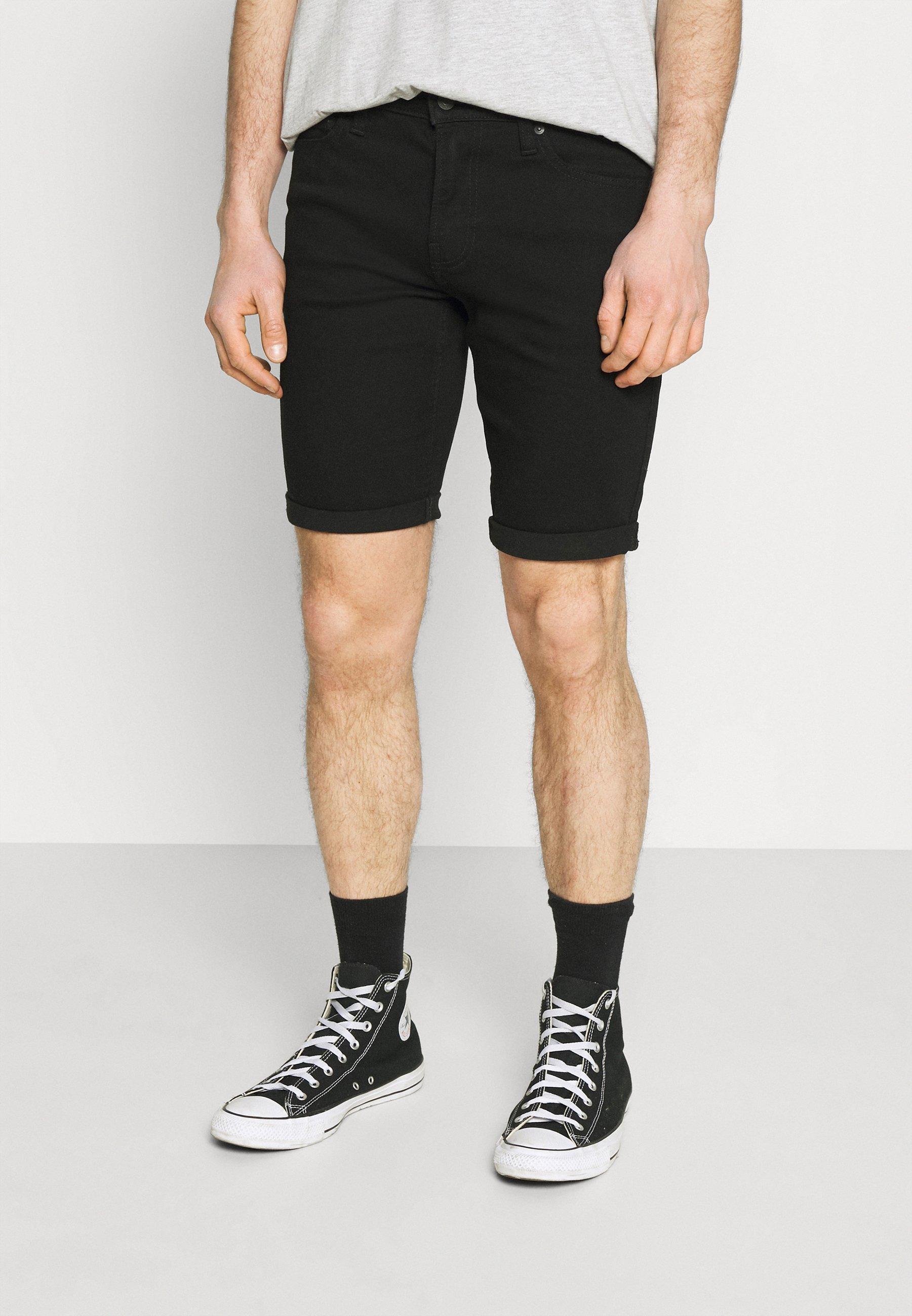 Men CLEAN  - Denim shorts - black