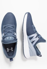 Under Armour - BREATHE TRAINER X NM - Treningssko - downpour gray/white/blue heights - 1