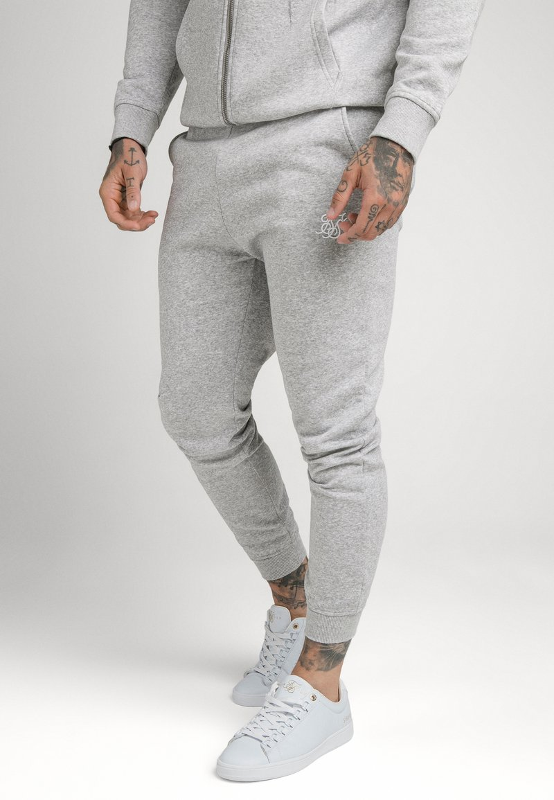 SIKSILK - MUSCLE FIT JOGGER - Tracksuit bottoms - grey marl