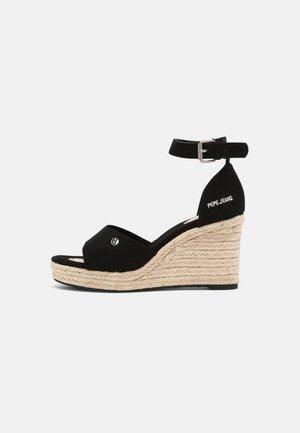 MAIDA BASS - Platform sandals - black