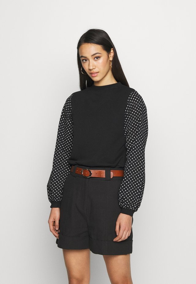 SEERSUCKER SPOT SLEEVE - Sweater - mono