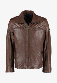 DNR Jackets - MIT TASCHEN UND REISSVERSCHLUSS - Leather jacket - brown - 0