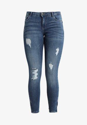 NMKIMMY ANKLE ZIP - Jeansy Skinny Fit - medium blue denim