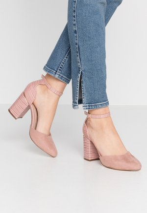 WIDE FIT DEBS ROUND TOW TWO PART COURT - High heels - blush