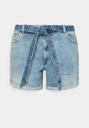 CARENEDA LIFE MOM - Denim shorts - light blue denim
