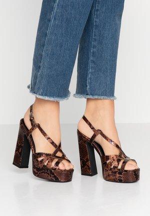 ABRIL - High Heel Sandalette - brown
