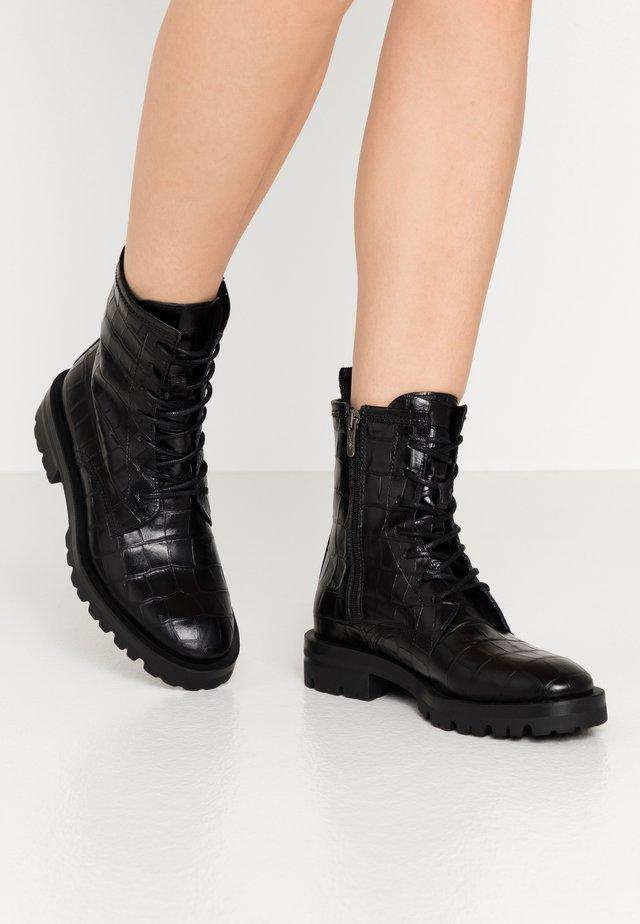 MILITARE - Šněrovací kotníkové boty - black