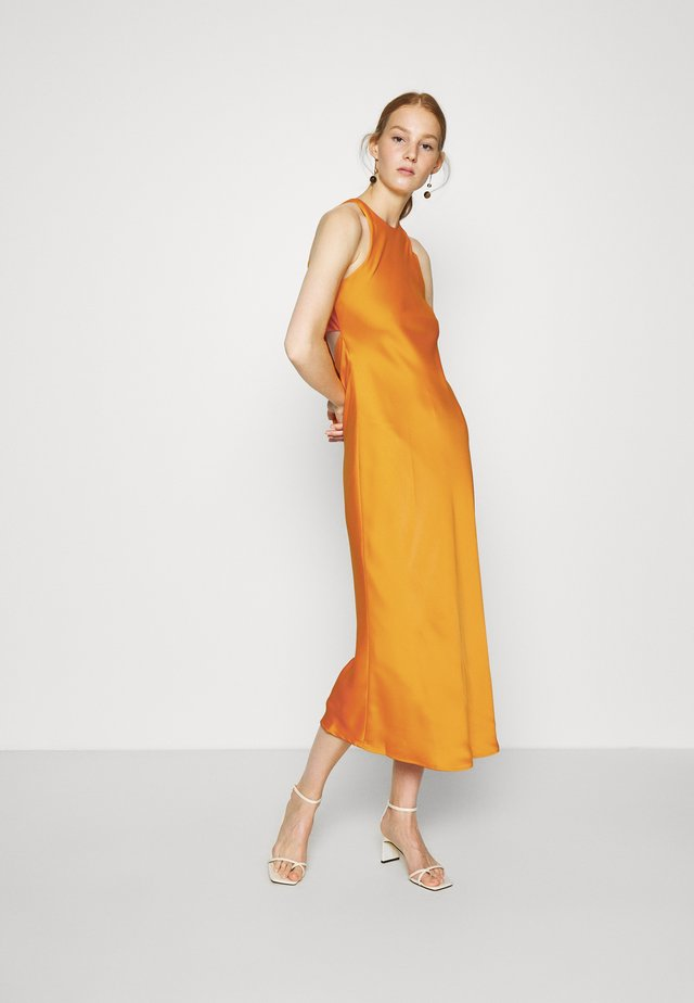 CUT OUT BACK SLIP DRESS - Juhlamekko - papaya