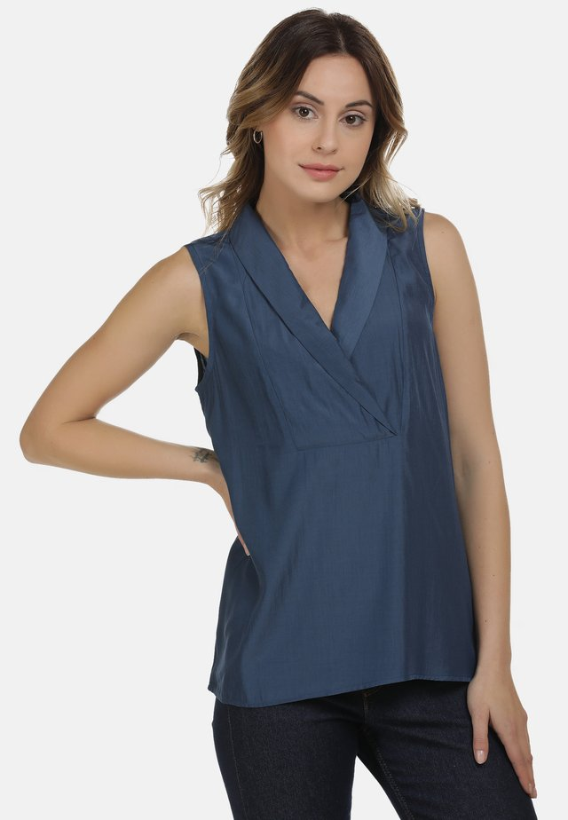 DREIMASTER BLUSE - Blouse - denim blue