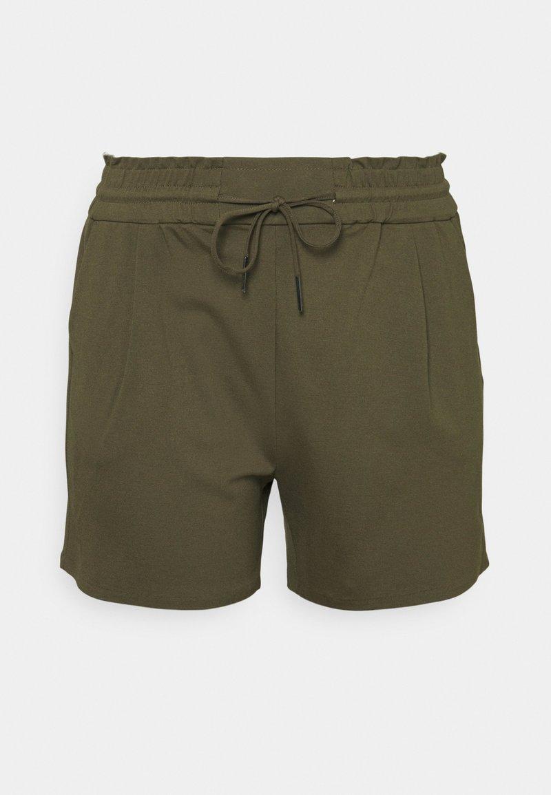 Vero Moda Curve - VMEVA RUFFLE - Shorts - ivy green