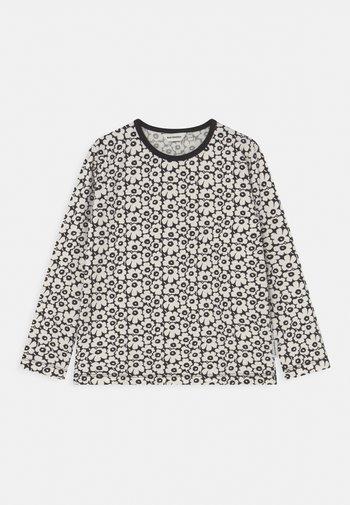 OULI PIKKUINEN UNIKKO - Long sleeved top - black/off white