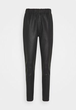 PANT - Lederhose - black