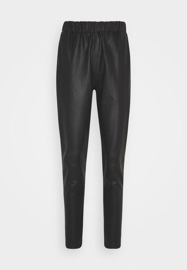 PANT - Pantaloni di pelle - black