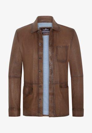 Leather jacket - tabak