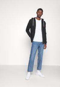 Les Deux - FRENCH ZIPPER HOODIE - Zip-up sweatshirt - black - 1