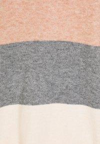 ONLY Tall - ONLQUEEN LONG CARDIGAN  - Kardigan - misty rose/medium grey melange/cloud pink melange - 2