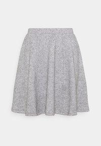 Even&Odd - Flared mini knitted skirt - Minikjol - mottled grey - 3