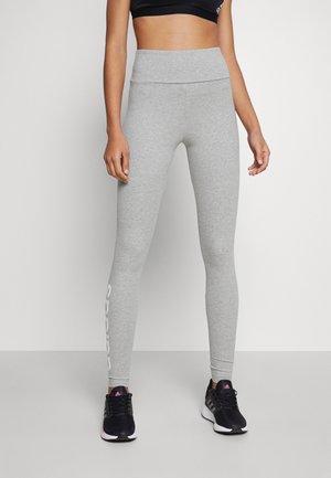 LOUNGEWEAR ESSENTIALS HIGH-WAISTED LOGO LEGGINGS - Leggings - medium grey heather/white