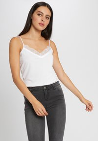 Morgan - VEST TOP WITH THIN STRAPS AND LACE - Top - off-white - 0