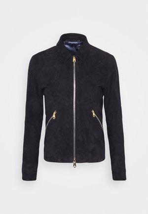 GENTS JACKET - Leather jacket - dark blue