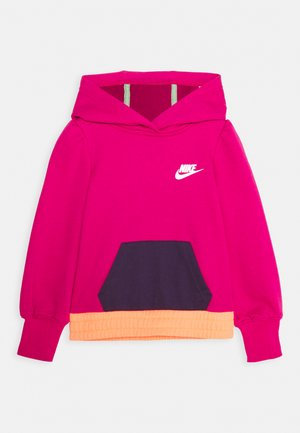 COLORBLOCK HOODIE - Mikina - fireberry