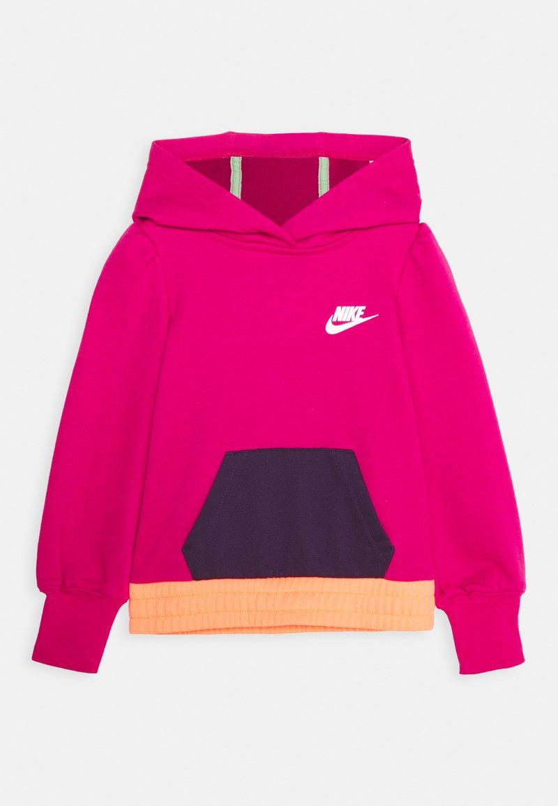 Nike Sportswear - COLORBLOCK HOODIE - Mikina - fireberry
