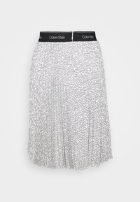 Calvin Klein - LOGO WAISTBAND PLEAT SKIRT - A-line skirt - monogram - 1
